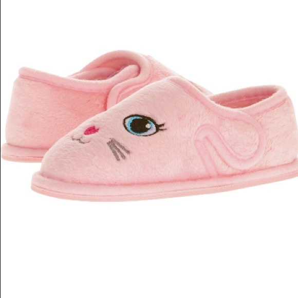 6c3edf5a4df Baby Girl Pink Bunny Slippers Size 5 - 6 New Tags